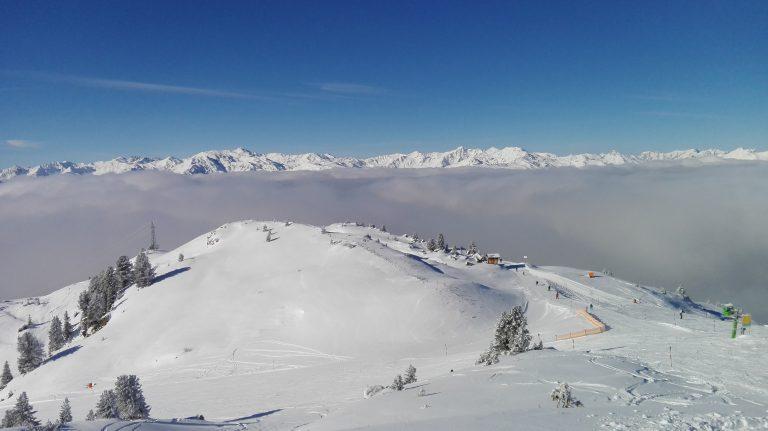Schifahrer-Aussicht